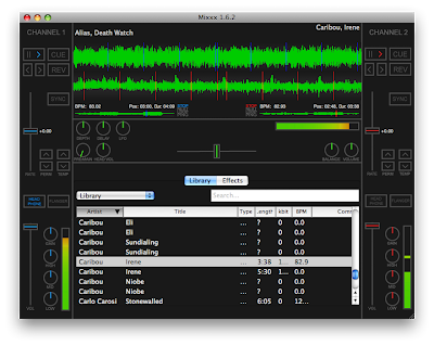 Mixxx 1.6.1, with the new library