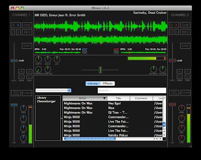 Screenshot of Mixxx 1.6.1