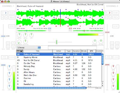Mixxx running on OS X