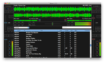 Screenshot of Mixxx 1.7.2