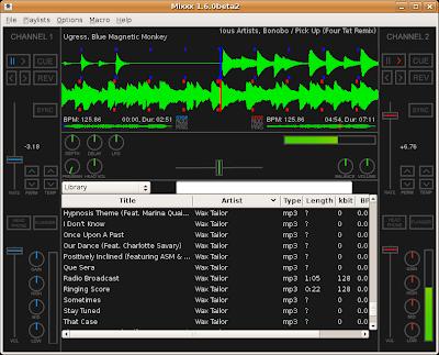 Sceenshot of Mixxx 1.6.0beta2