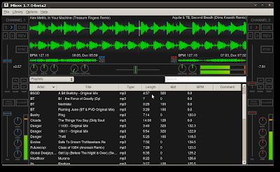 Screenshot of Mixxx 1.7.0-beta2