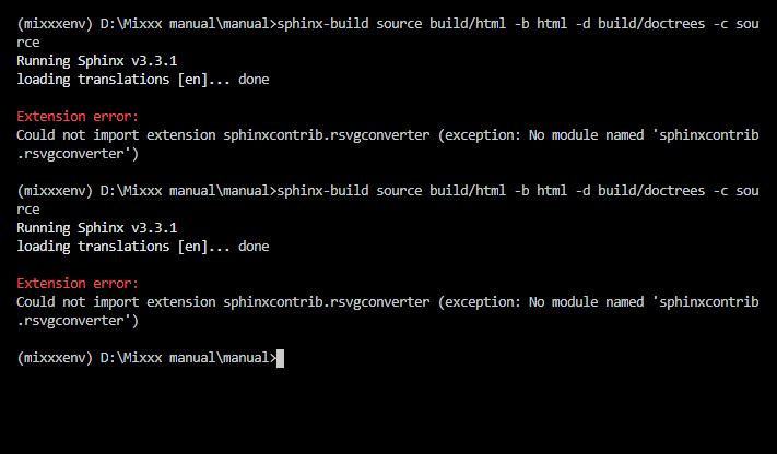 extension errors