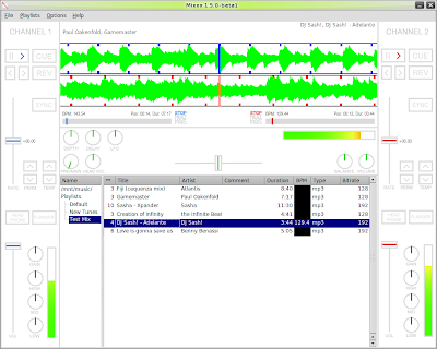 Mixxx 1.5.0, with our old-school library