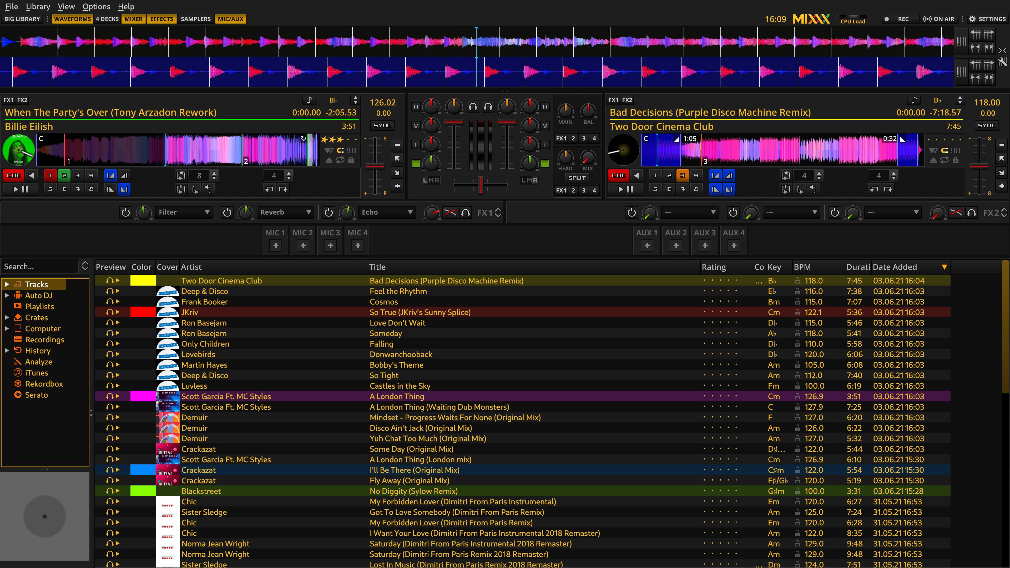 Mixxx screenshot