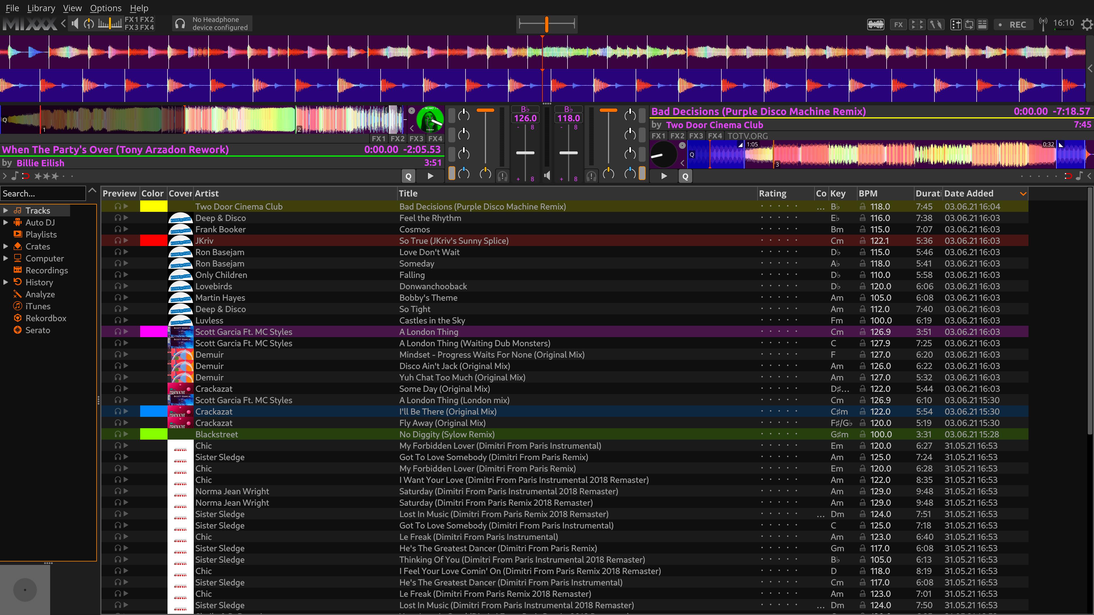 Full Mixxx x64 screenshot